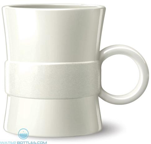 14 oz Loop BPA Free Plastic Mugs - White