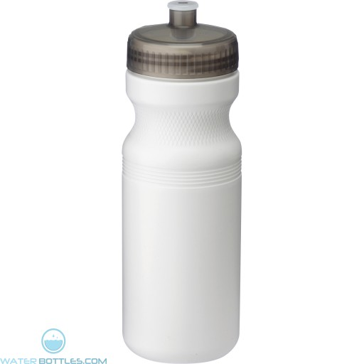 Easy Squeezy Sports Bottles | 24 oz - White with Translucent Black Lid