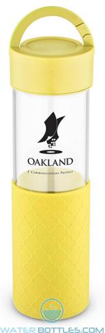 20 oz Mia Serenity Glass Water Bottles - Yellow
