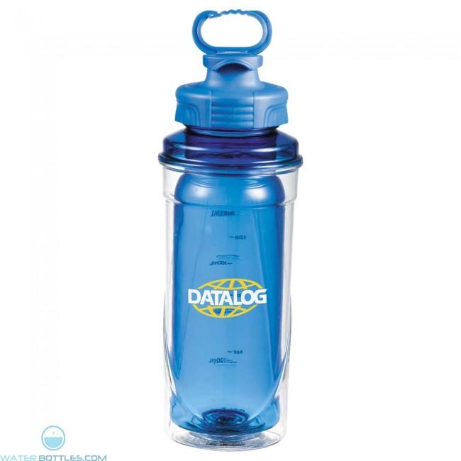 Cool gear no sweat sports bottle 20 oz custom water for Unique plastic bottles