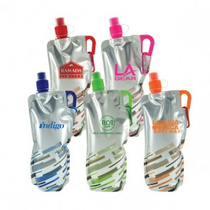 Custom Logo Water Bottles - Lazer Flat Fodable Water Bottles | 30 oz