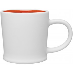 12 oz Matte White Turno Mug_Orange Interior_Blank