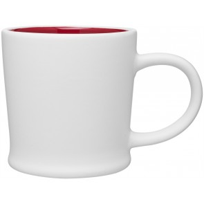12 oz Matte White Turno Mug_Red Interior_Blank