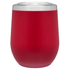 12 oz Powder Coated Thermal Tumblers-Red