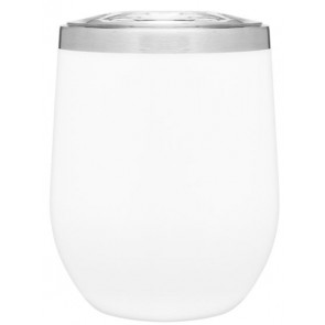 12 oz Powder Coated Thermal Tumblers-White