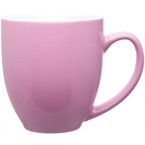 15 oz bistro mugs - 2 tone-glossy pink / glossy white