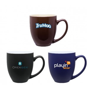 2 - Tone Ceramic Bistro Mug | 15 oz