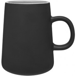 15 oz Inverti Ceramic Coffee Mugs-Matte Black