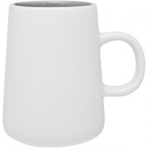 15 oz Inverti Ceramic Coffee Mugs-White