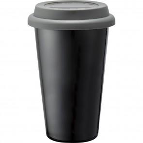 Branded Black Ceramic Tumblers | 11 oz - Grey