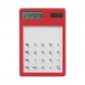 Personalized Clear Solar Calculator - Red