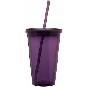 16 oz spirit tumbler-eggplant purple