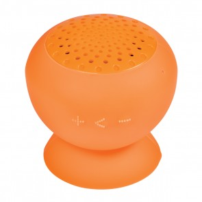 Printed Silicone Speaker With Phone Stand - Orange