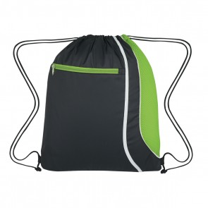 Custom Logo Drawstring Sports Pack - Lime Green
