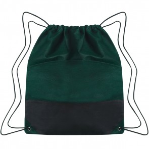 Custom Drawstring Sports Pack - Forest Green