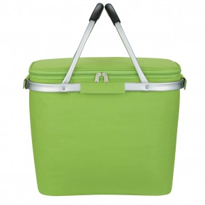 Custom Picnic Fun Collapsible Kooler Basket - Lime Green