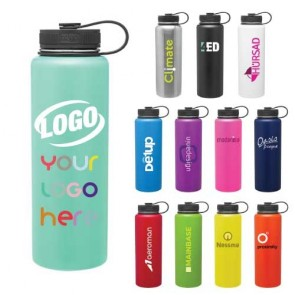 Custom Water Bottles - 40 oz H2Go Venture Powder Coated Thermal Water Bottle