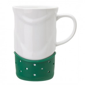 Ceramic Mugs | 14 oz - White with Green Base