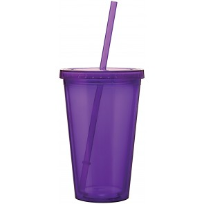 16 oz spirit tumbler-purple