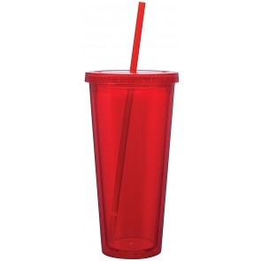 Double Wall Acrylic Spirit Tumblers | 20 oz - Red