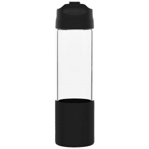 H2Go Pure Glass Water Bottles | 18 oz - Black