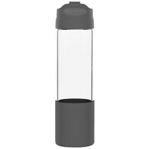 H2Go Pure Glass Water Bottles | 18 oz - Storm Gray