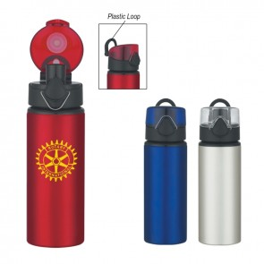 Personalized Sports Water Bottles - Aluminum Sports Bottles With Flip Top Lid | 25 oz