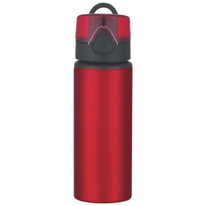 Aluminum Sports Bottles With Flip Top Lid | 25 oz - Red