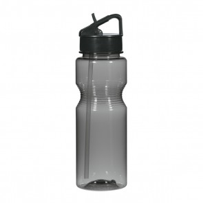 Ring Around The Bottles With Straw | 24 oz - Black