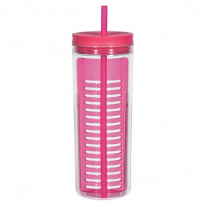 Infusion Bottles With Straw | 20 oz - Pink