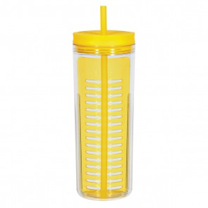 Infusion Bottles With Straw | 20 oz - Yellow