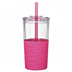 Riptide Tumblers | 20 oz - Clear with Pink Sleeve