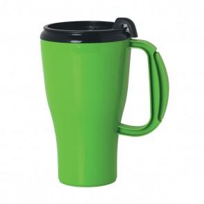 Omega Mugs With Slider Lid   16 oz - Lime Green