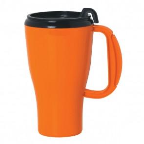 Omega Mugs With Slider Lid   16 oz - Orange