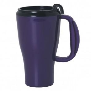 Omega Mugs With Slider Lid | 16 oz - Purple