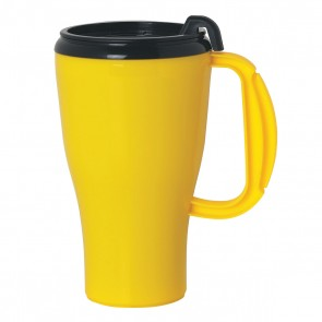 Omega Mugs With Slider Lid | 16 oz - Yellow