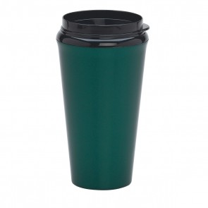 Infinity Tumblers With Plastic Sip Thru Lid | 16 oz - Metallic Green