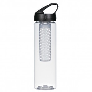 Fruit Fusion Bottles | 25 oz - Clear With Black Infuser