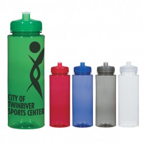 Personalized Sports Water Bottles - Hydroclean Sports Bottles With Push/Pull Lid | 32 oz