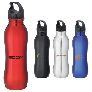 Personalized Sports Water Bottles - Curve Personalized Sports Bottles | 25 oz