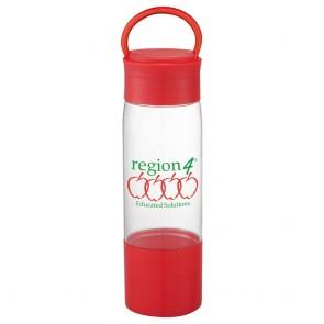 Color Band Tritan Sports Bottles | 22 oz - Red