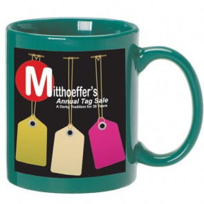 C Handle Mugs | 11 oz - Green