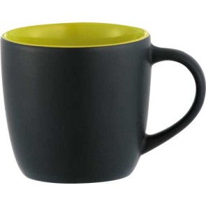 Riviera Mugs - Electric | 12 oz - Black with Lime Green Lining