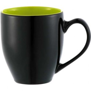 Zapata Mugs - Electric | 15 oz - Black with Lime Green Trim