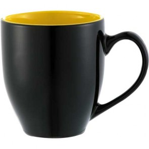 Zapata Mugs - Electric | 15 oz - Black with Yellow Trim