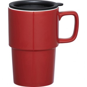Contra Ceramic Mugs | 17 oz - Red