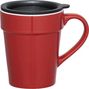 Habanera Ceramic Mugs | 10 oz - Red