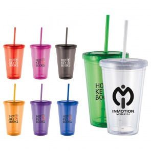 Wholesale Tumblers - Cyclone Tumbler With Straw | 16 oz