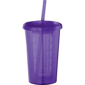 Tutti Frutti Tumblers With Straw | 20 oz - Purple