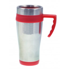 Coronado Mugs | 16 oz - Silver with Red Liner